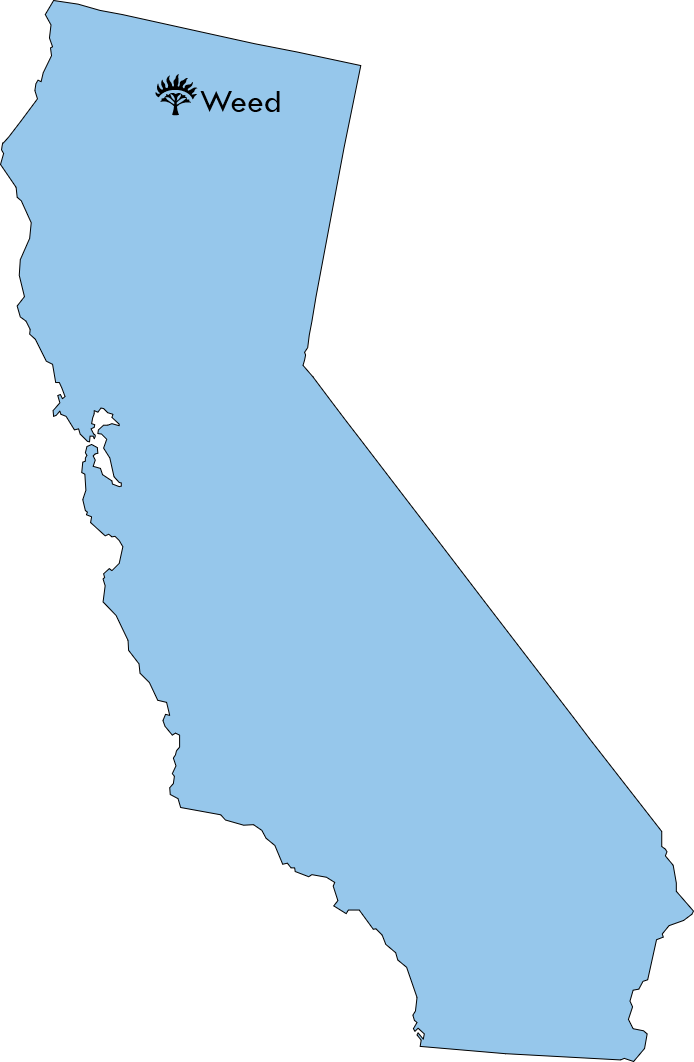 CA map with Weed