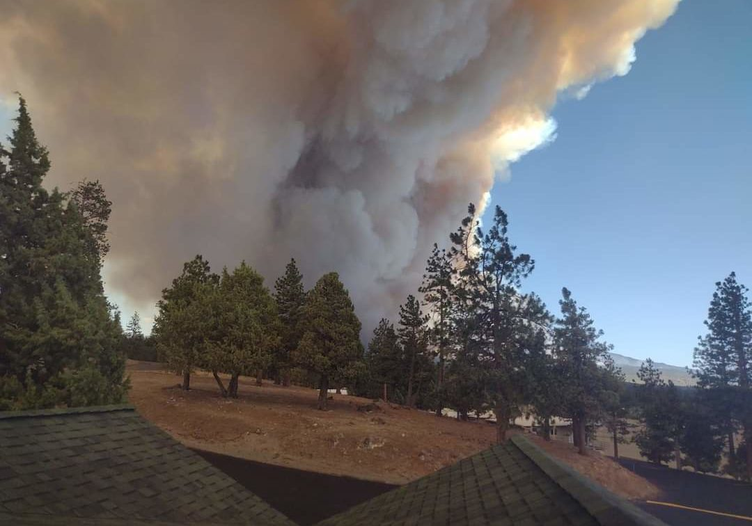 CA fire from Baldwin back porch