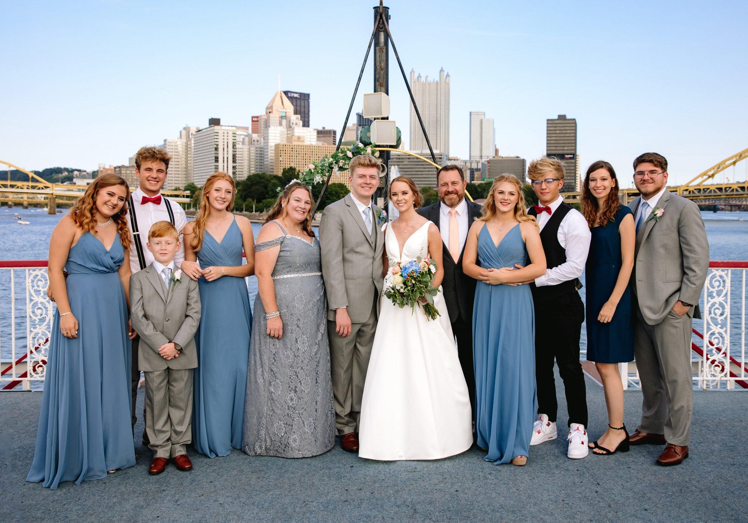 Cody & family wedding pic