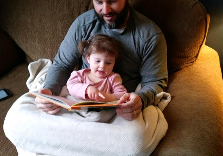 Doug reading to Maple, edited SM
