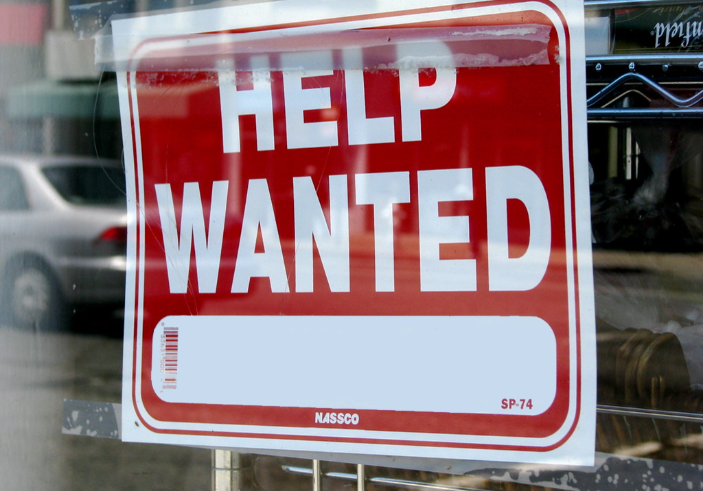 Help Wanted sign, edited