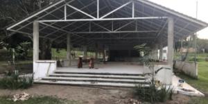 The rebuilt cafeteria