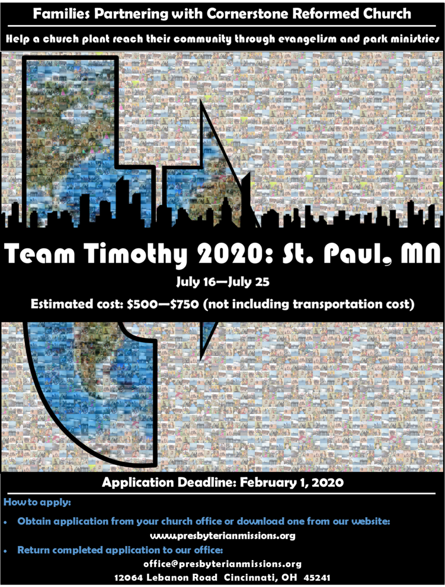 Team Timothy 2020: St Paul Poster (small)